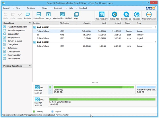 Partition Master Free- The Master Of Partition Management