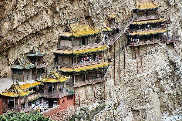 Xuan Kong Monastery,-China