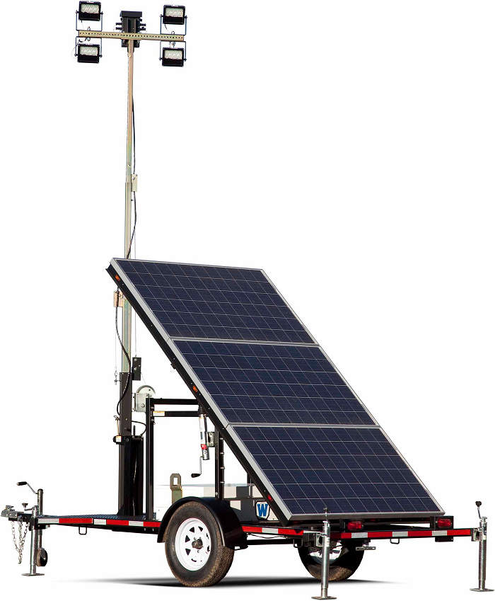 Solar Light Towers For Remote Security