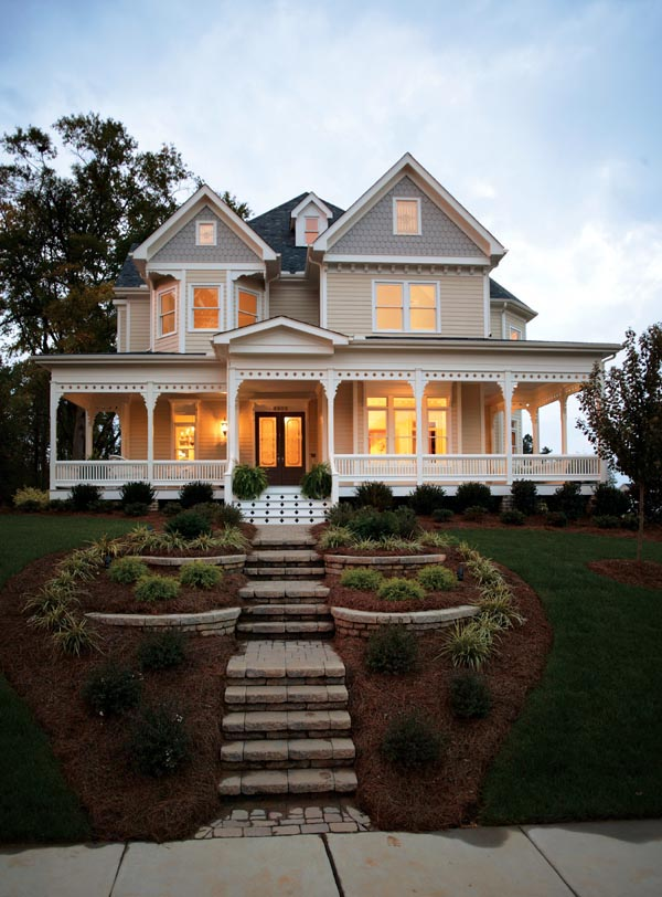 country farm house exterior