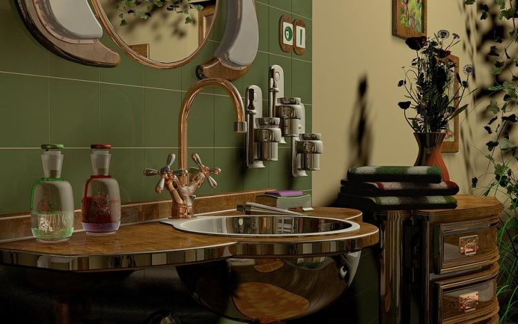 interior design of the bathroom