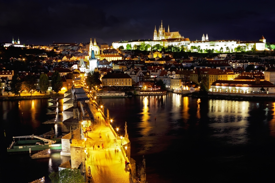Enjoying The Night View Of Prague and Its Exotic Places