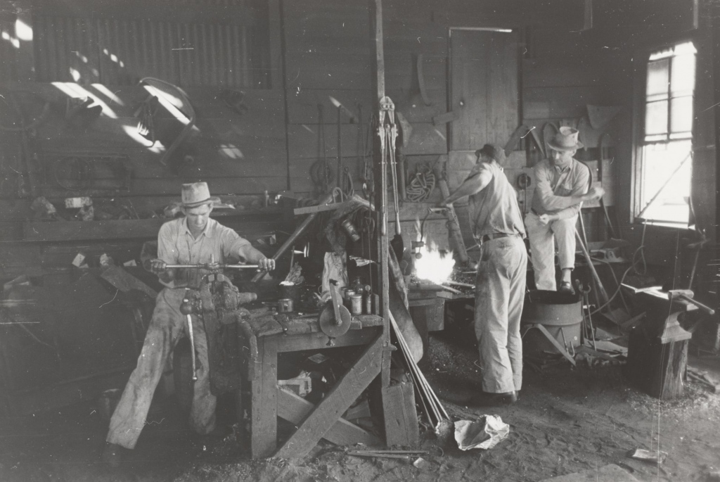 Vintage manufacturing workshop
