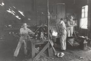 Vintage manufacturing workshop